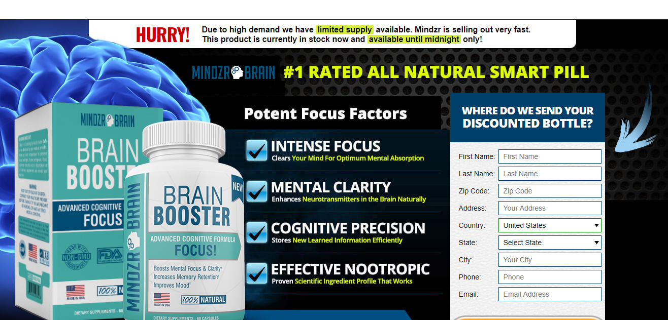Mindzr Brain Booster – Best Nootropic Supplement For Healthy Brain!