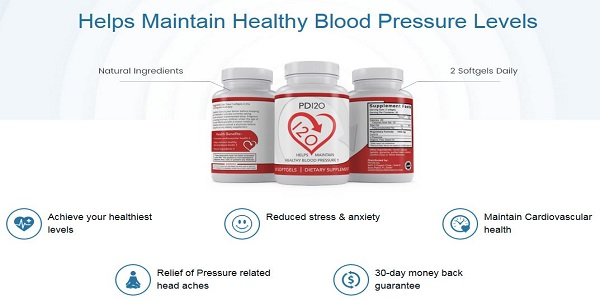 PD120 Blood Pressure – Control High Pressure & Improve Overall Health!