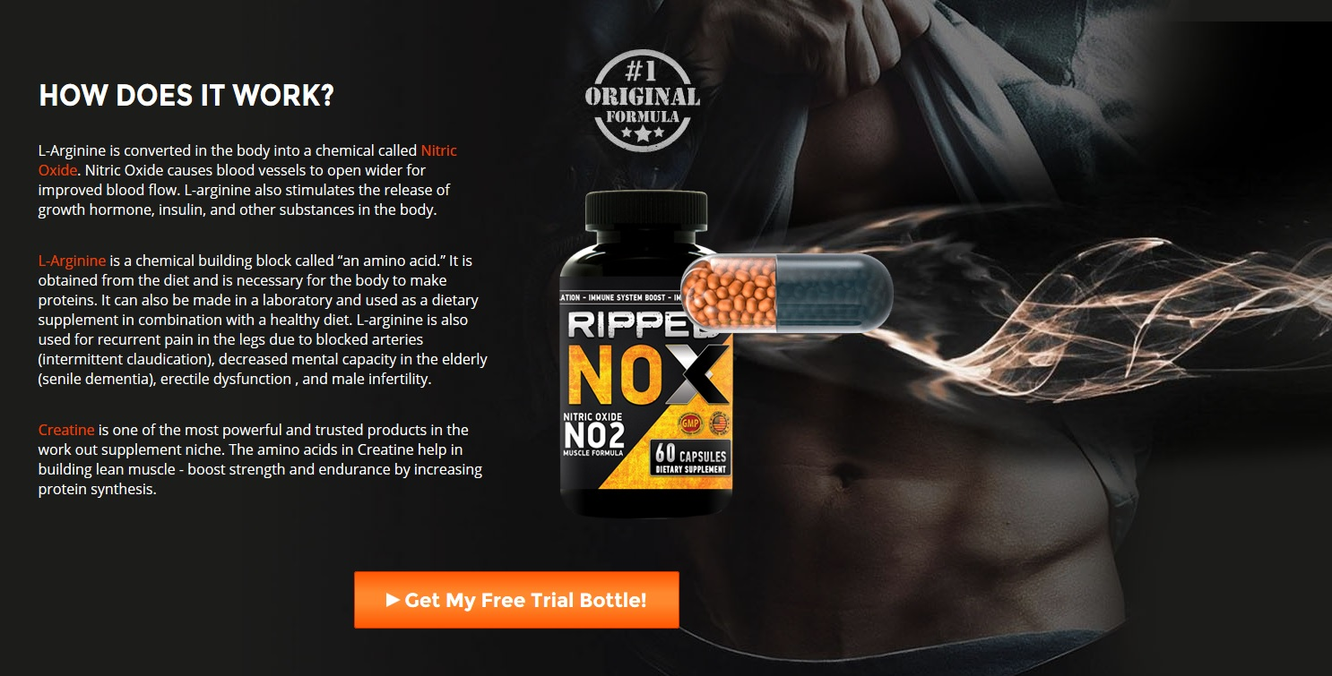Ripped Nox Reviews – Get Ripped Muscle Mass Easily! Price & Buy!