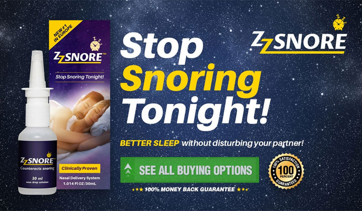 ZZ Snore – Effective Formula To Eliminate Snoring Problems!