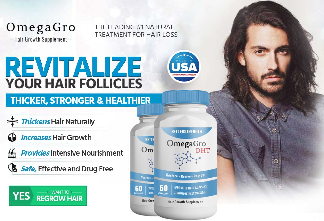 OmegaGro Reviews – 100% Effective Hair Growth Formula! Price,Buy