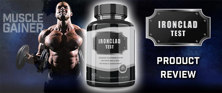 IronClad Testosterone Booster – Strong Sex Drive & Fast Muscle Growth!