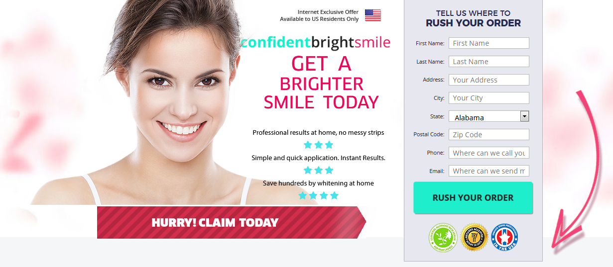 Confident Bright Smile – Effective To Diminish Stains & Get Whiter Teeth!